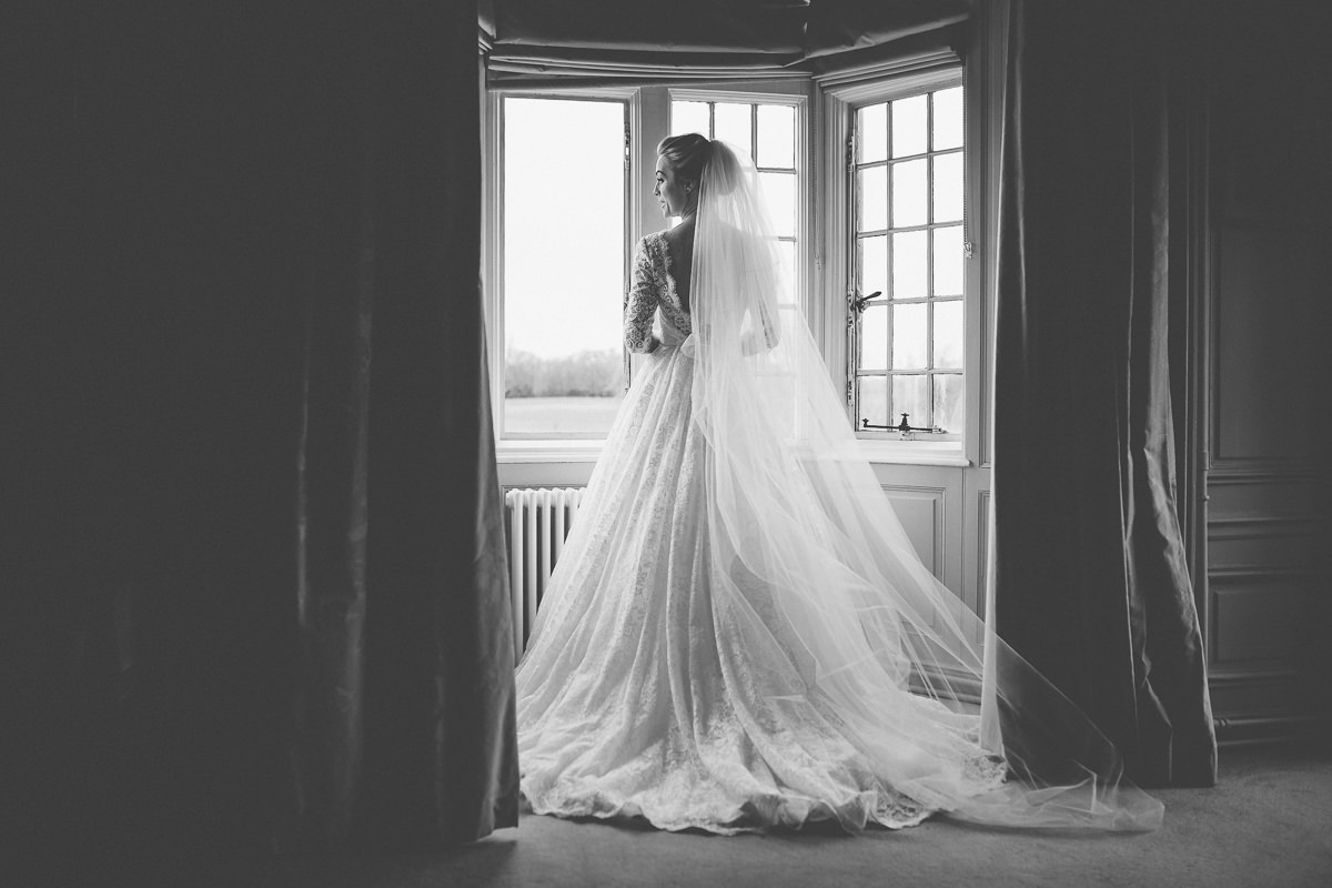 bride at Rushton Hall stunning photo