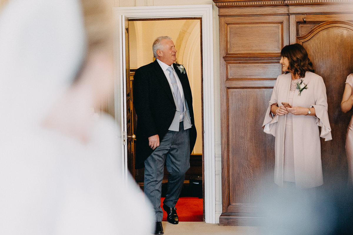 father of the bride reaction when he saw her dressed