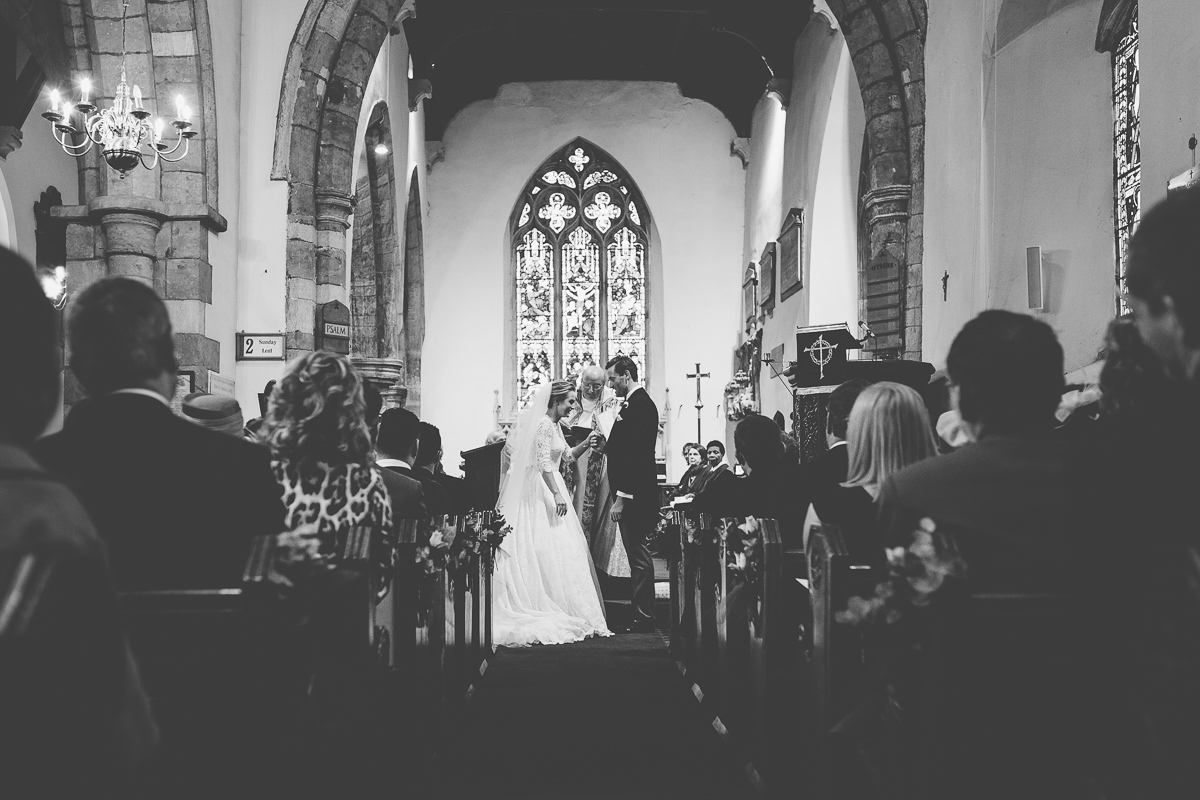 wedding at All saints church Rushton