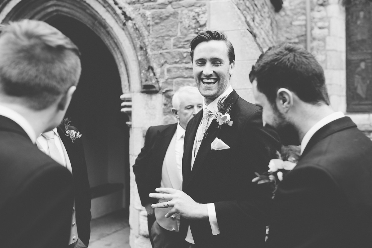 happy groom just got married