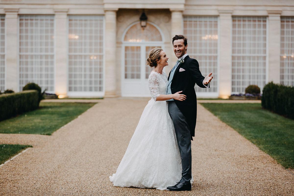 fun wedding photos Rushton Hall