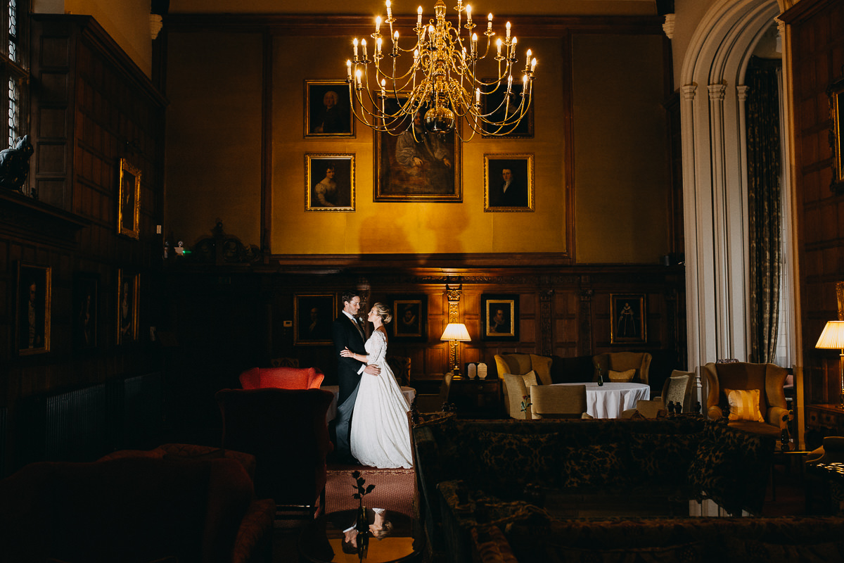 Rushton Hall great hall wedding photo