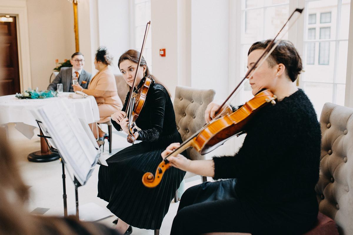 quartet playing at Rushton Hall