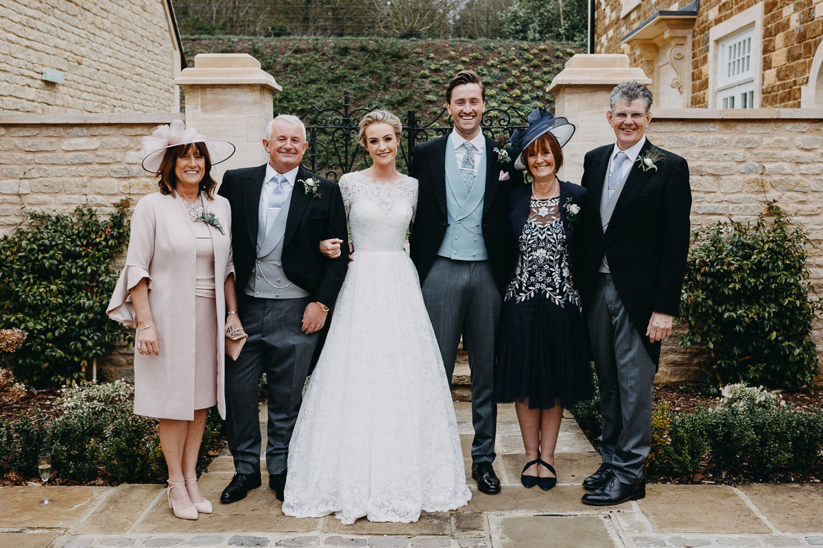 family photos Rushton Hall wedding