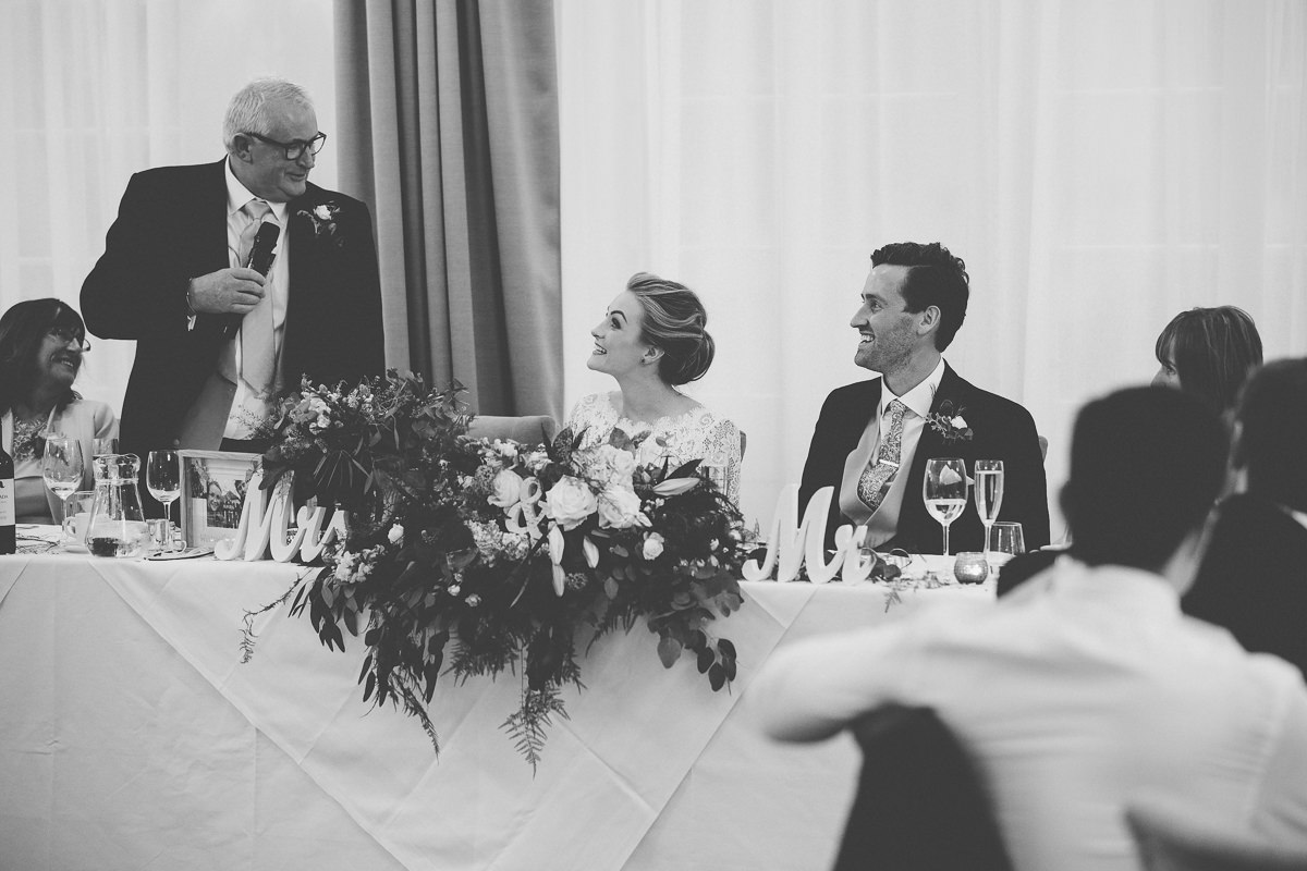father of the bride speech at Rushton Hall