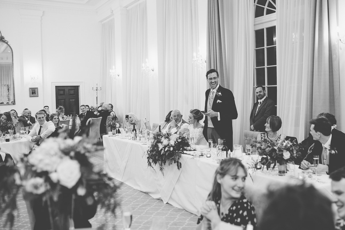 groom speech Rushton Hall wedding