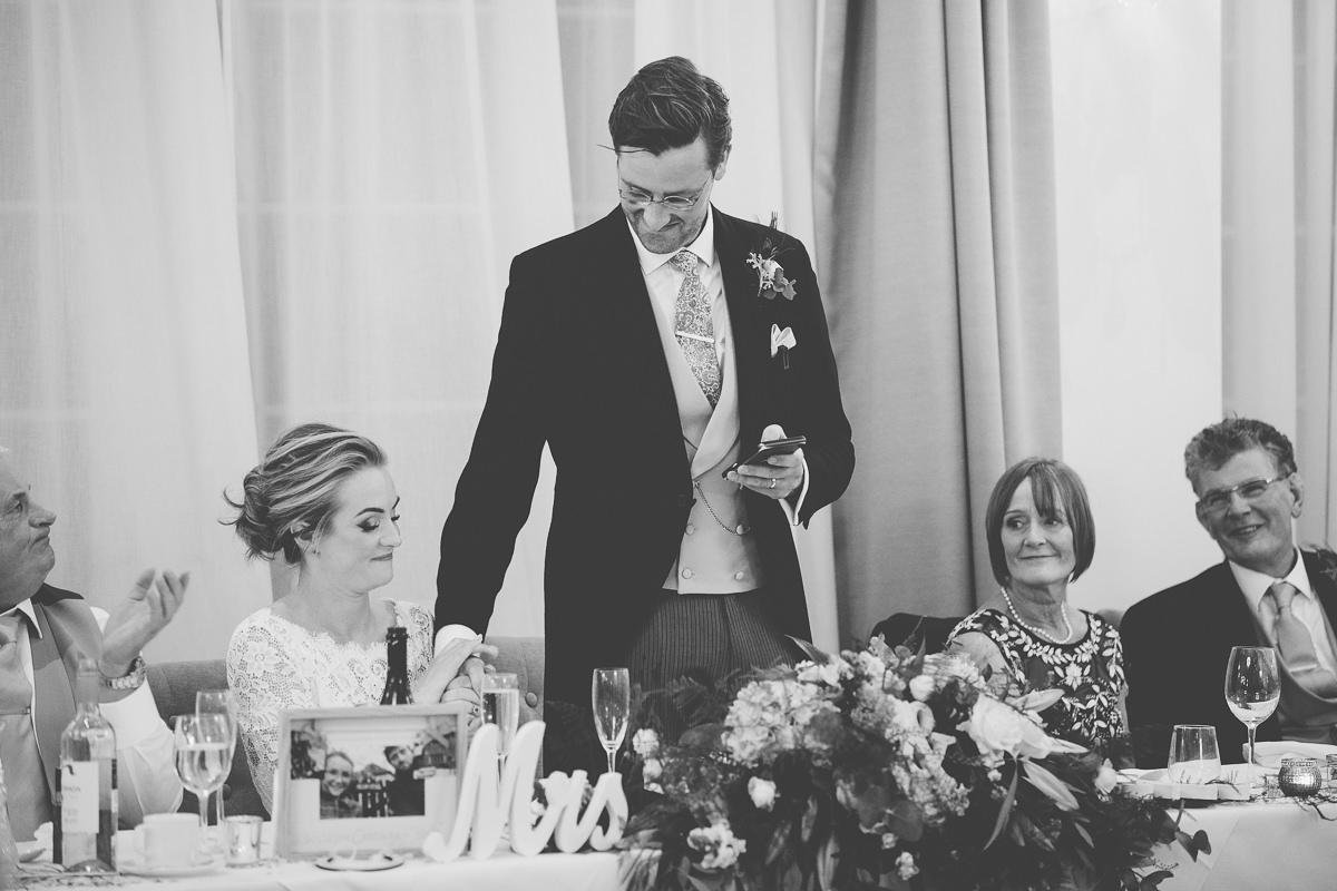 emotional moment groom's speech