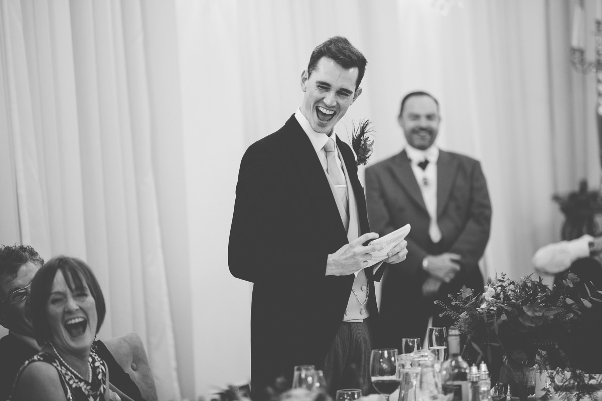 best man speech march wedding Rushton Hall
