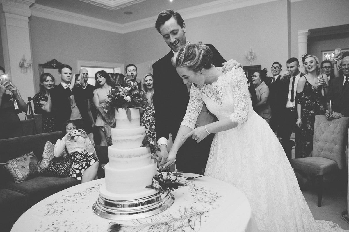 cutting the cake Rushton Hall