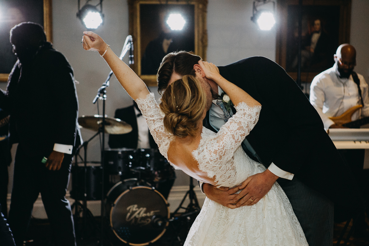 first dance kissing couple